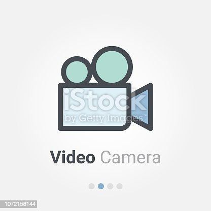video camera vector icon
