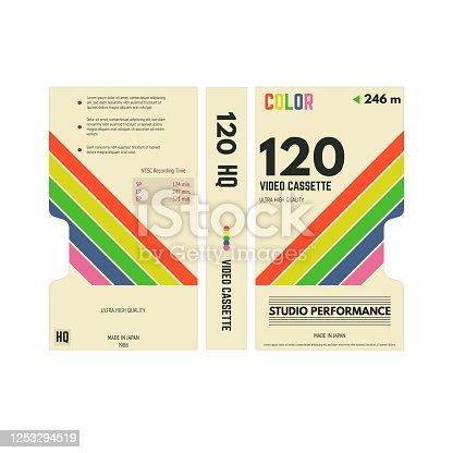 istock Video cassette cover 1253294519