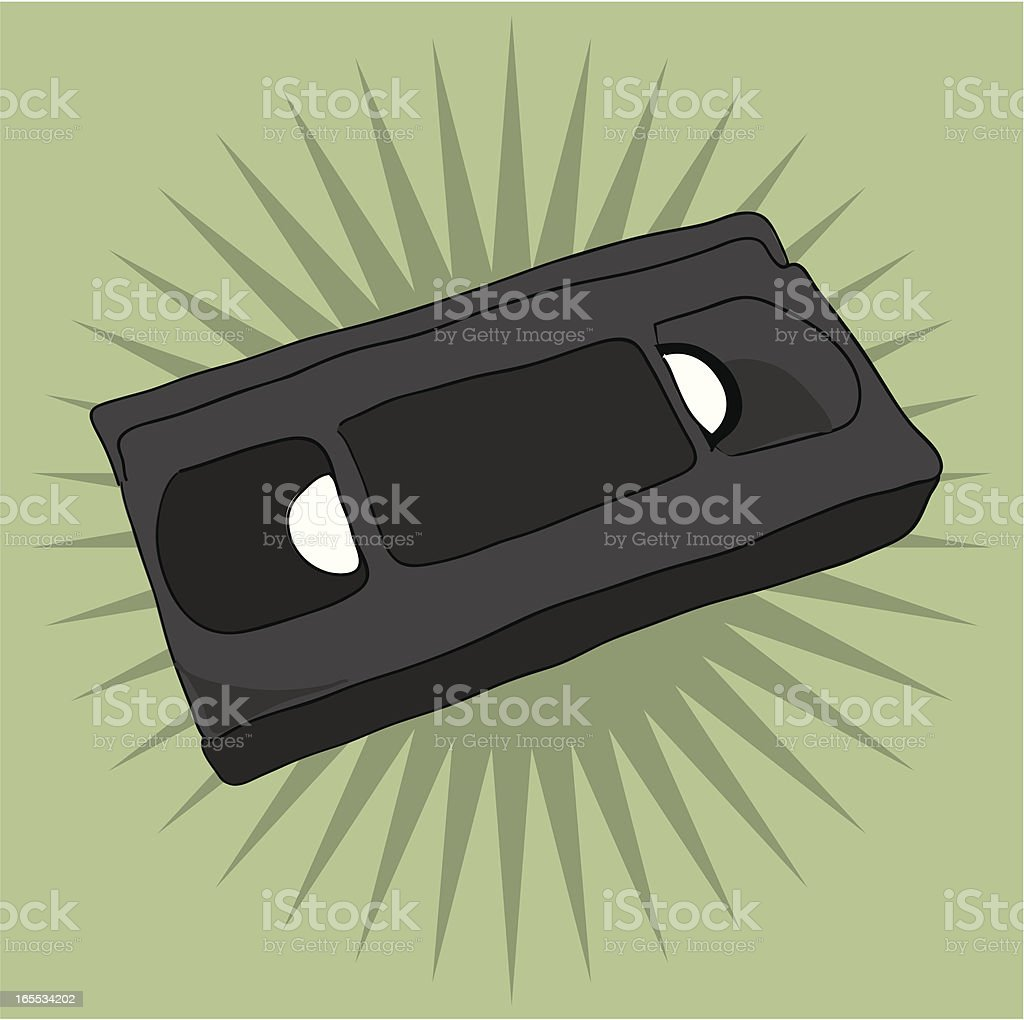 VHS video cassette royalty-free stock vector art