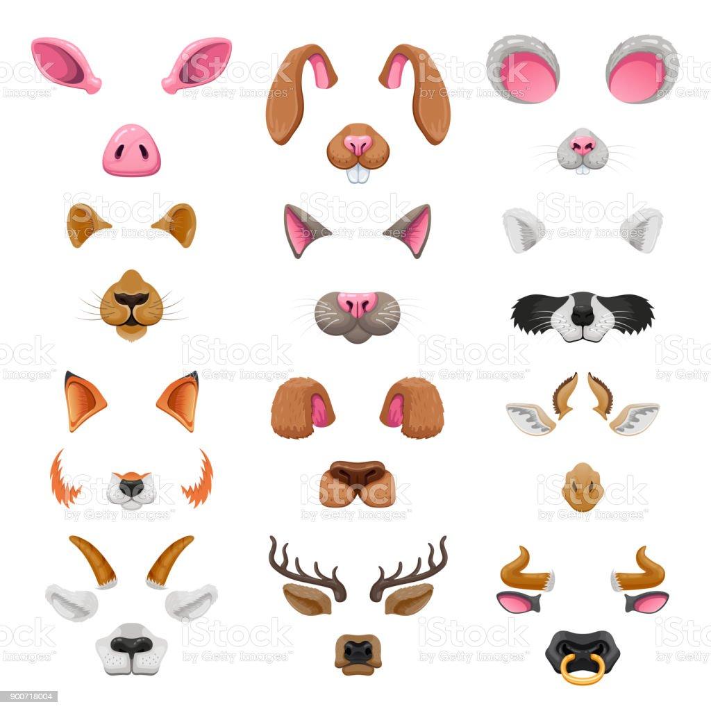 ビデオ チャット動物顔の効果 - お面のベクターアート素材や画像を多数ご