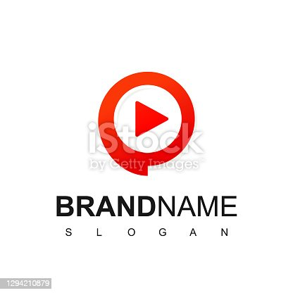 istock Video Chat Logo Template, Media Player Icon 1294210879