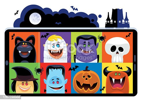 istock video chatting with Dracula and friends 1267298966