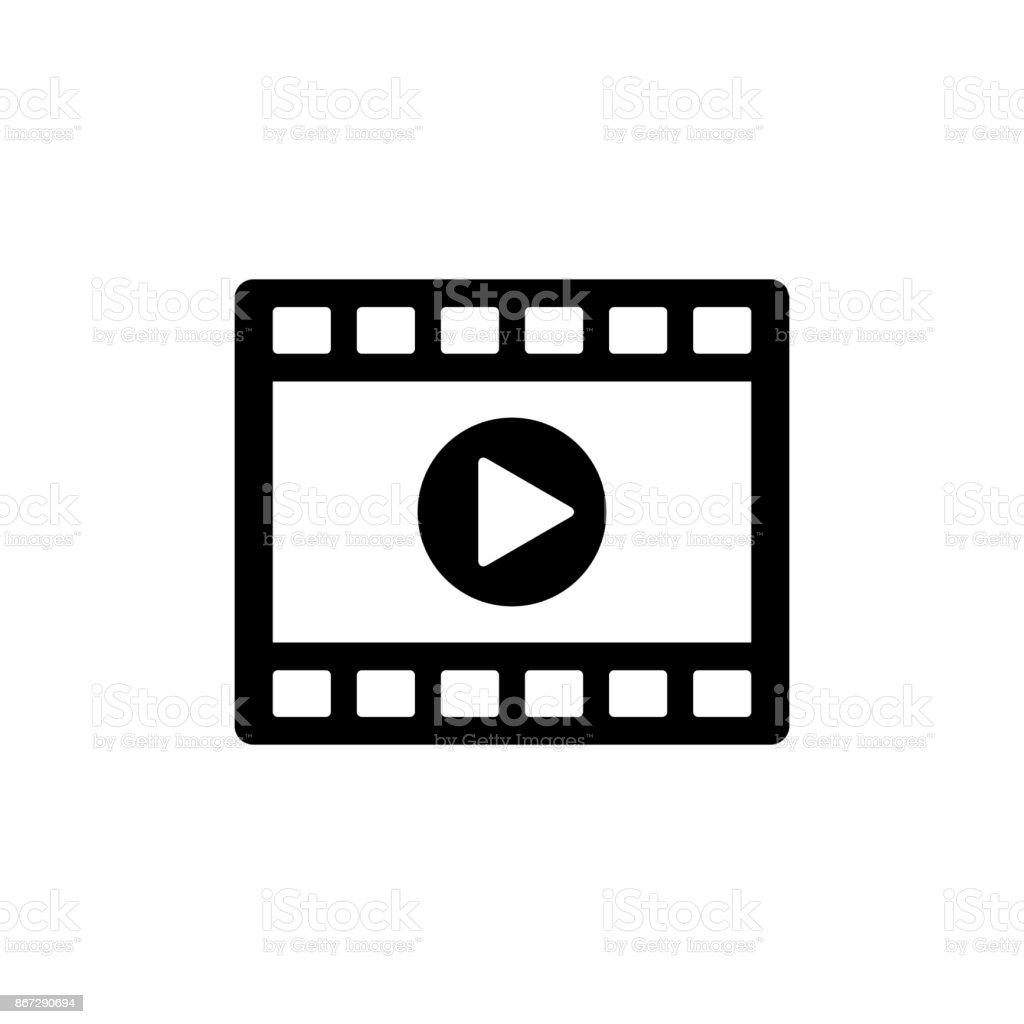 Ilustración de Icono De Reproductor De Video Clip Icono Negro ...