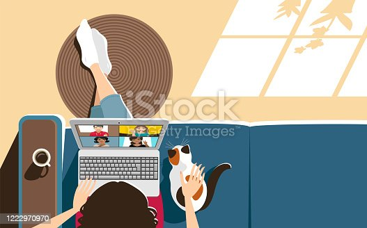 istock Video conference at home 1222970970