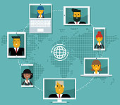 istock Video conference - Business people 1220025801