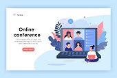 Video conference concept illustration.