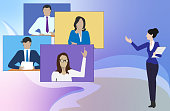 istock Video conference concept 1289241656