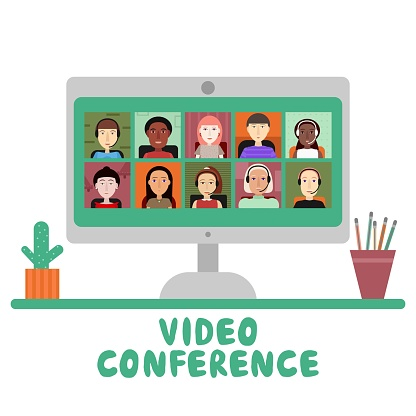 Video conference. clipart