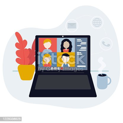 istock Video conference. 1225038525