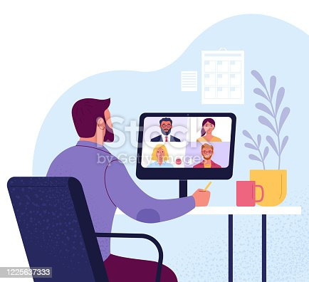 istock Video conference. 1225637333