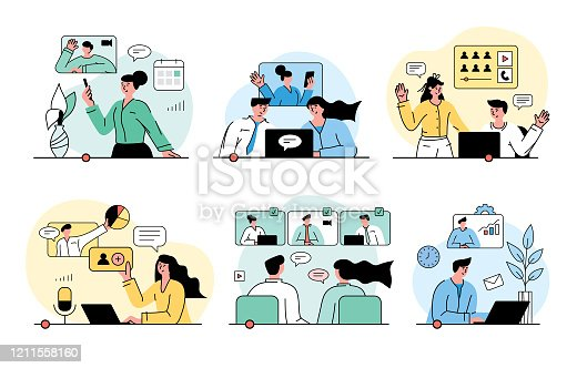 istock Video conferencing concept 1211558160