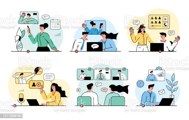 Video Conferencing Concept Stock Illustration - Download Image Now