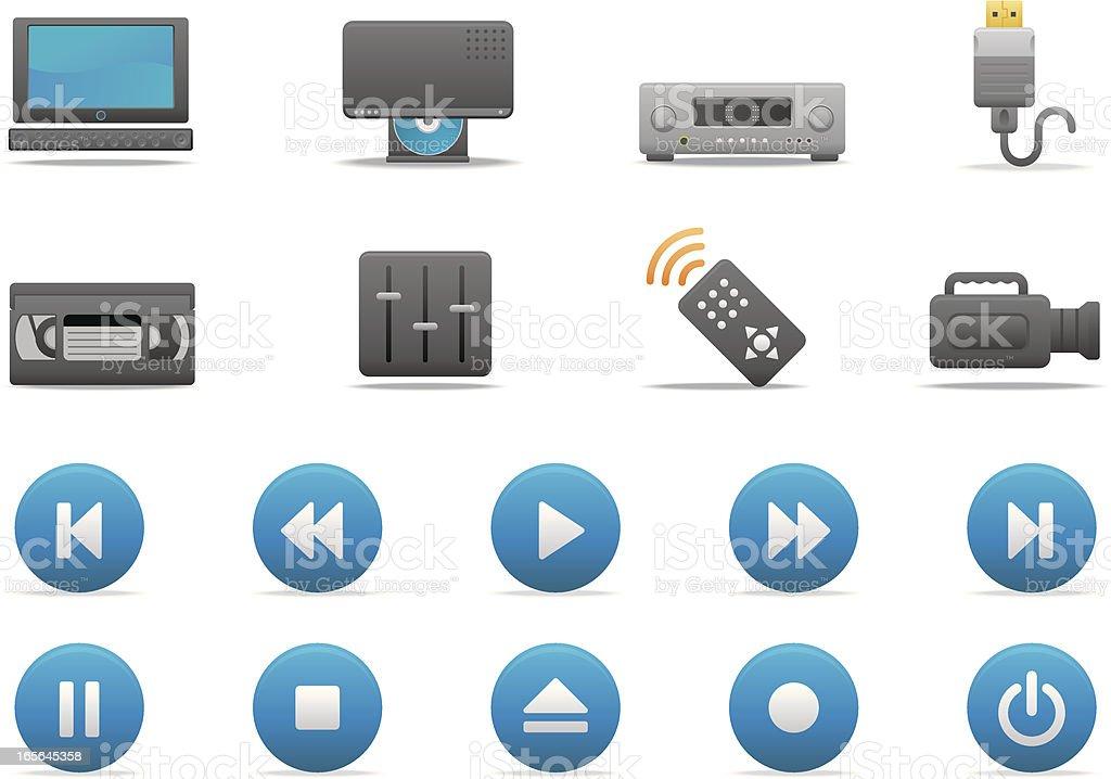 Video Entertainment icons | Premium Matte series vector art illustration