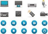 Video Entertainment icons | Premium Matte series