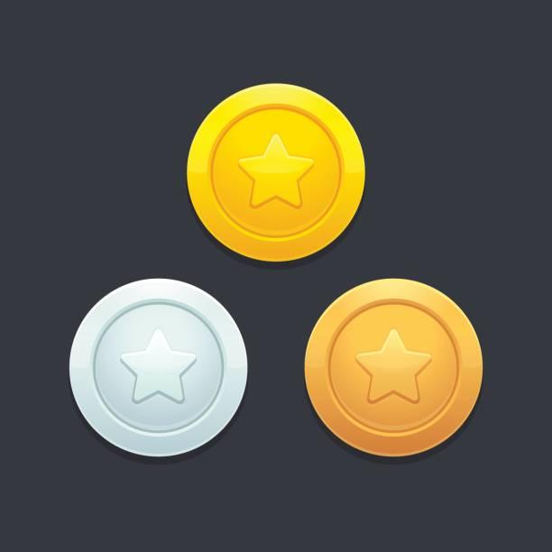 비디오 게임 동전 - 토큰 stock illustrations