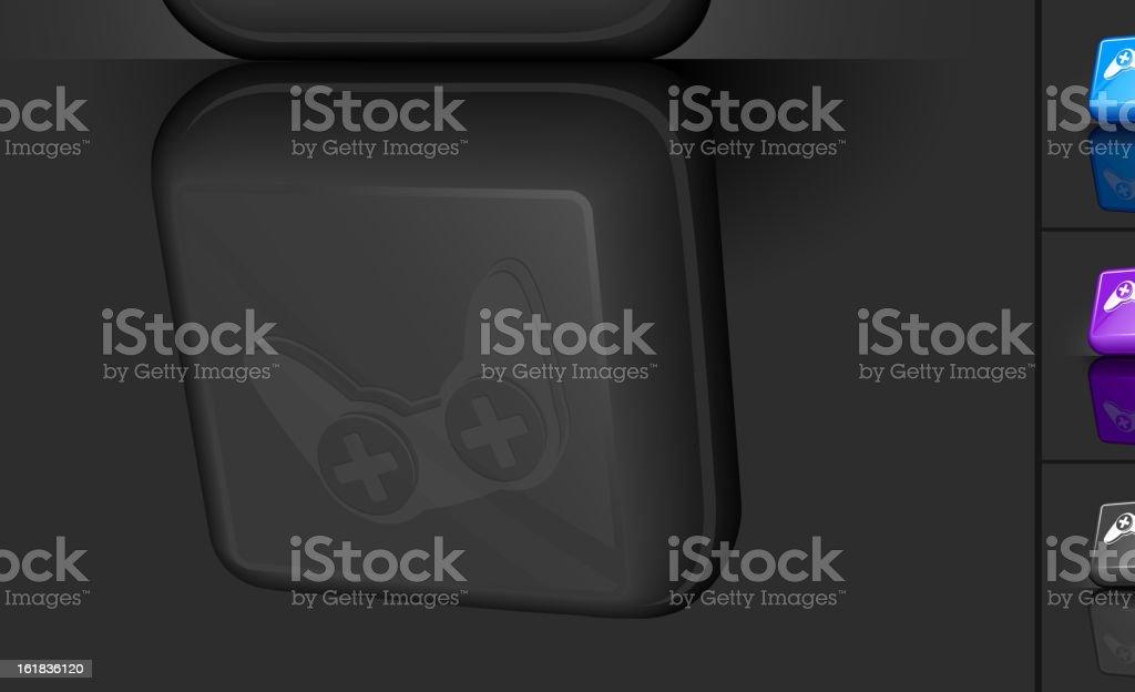 Video game Controller 3D button design royalty-free stock vector art