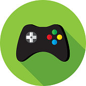 istock Video Game Controller Icon Flat 937014004