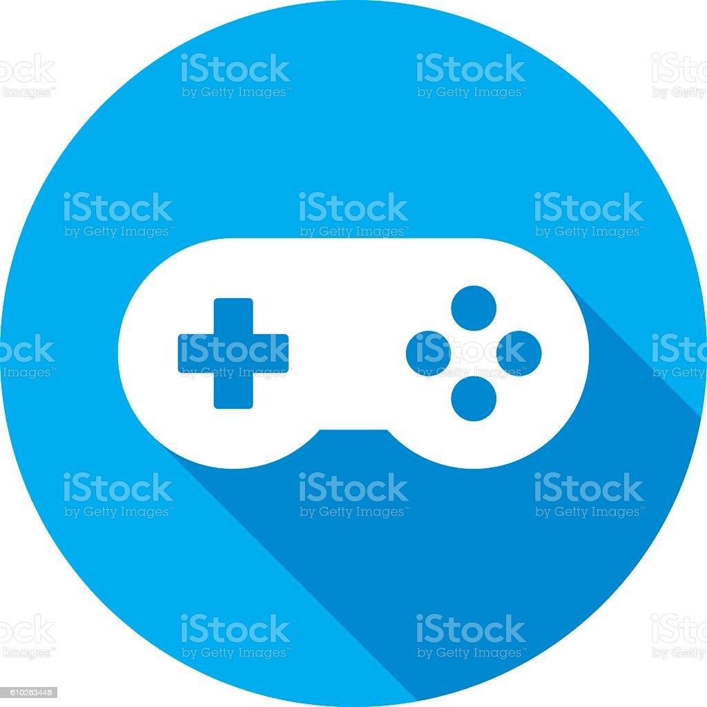 Video Game Controller Icon Silhouette Stock Vektor Art Und Mehr
