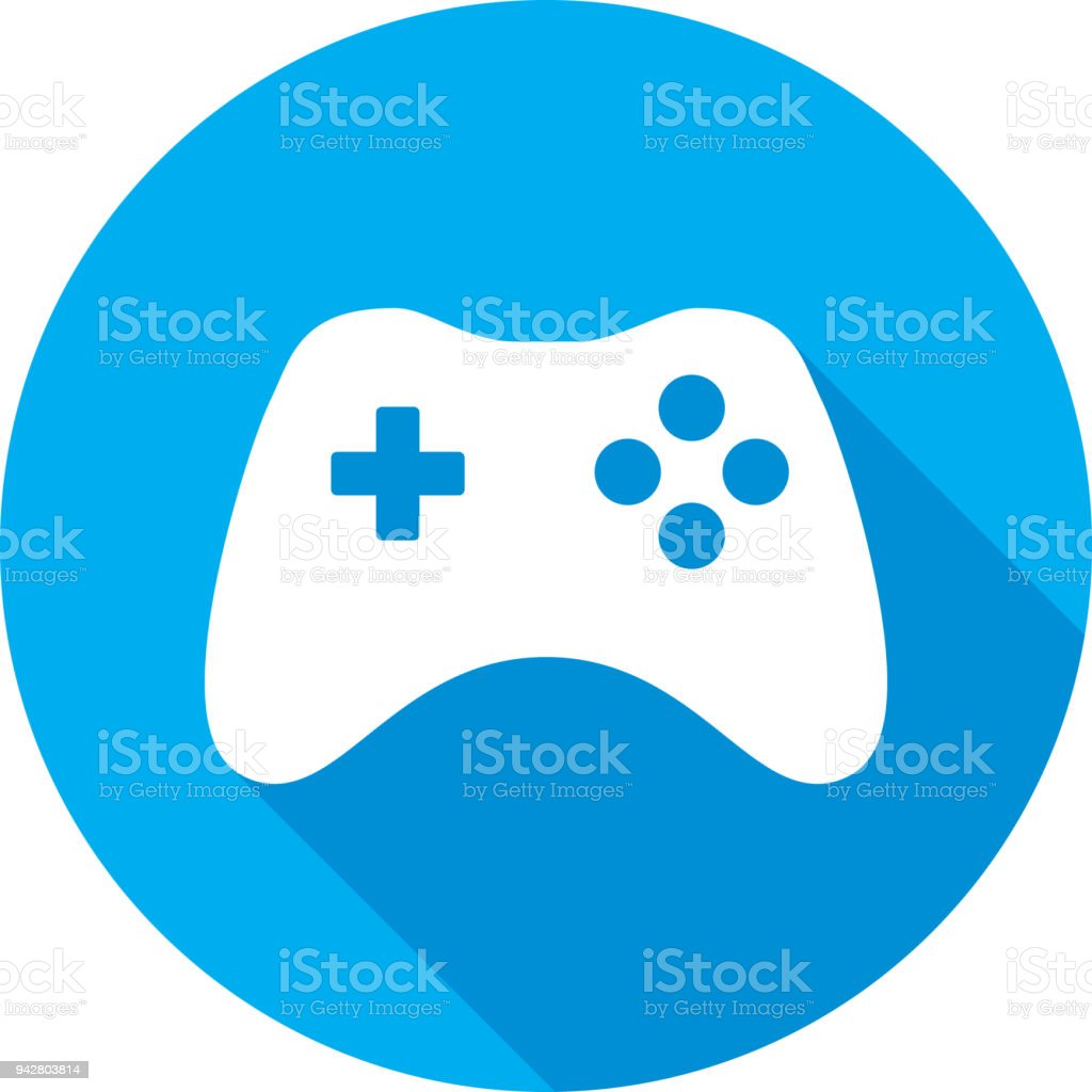 Video Game Controller Icon Silhouette vector art illustration