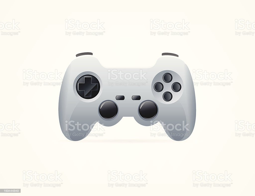 Video game controller illustration icon royalty-free stock vector art