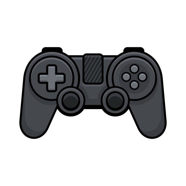 Video Game Controller on White Background. Gamepad Icon. Vector Video Game Controller on White Background. Gamepad Icon. Vector illustration game controller stock illustrations