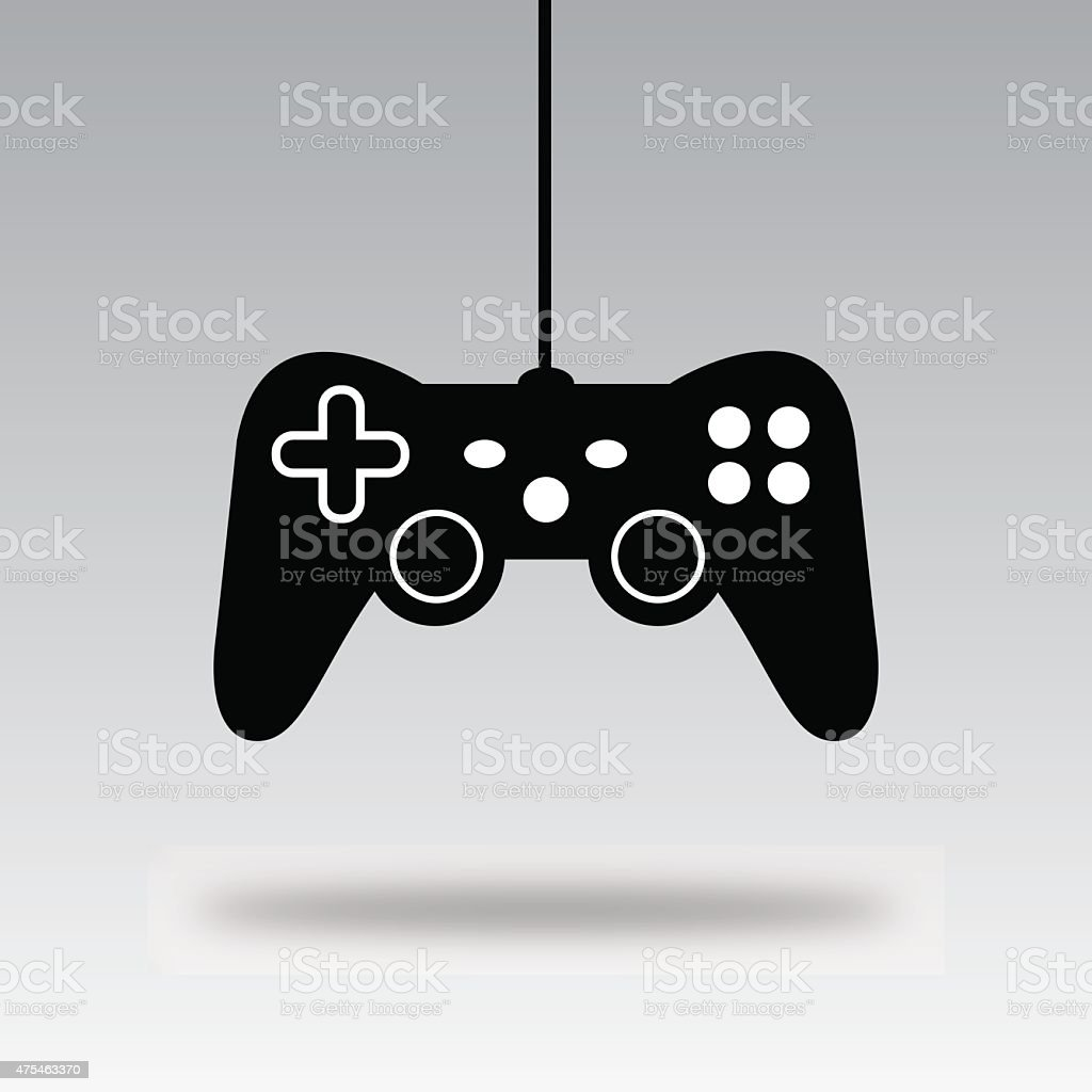 Video Game Controller Silhouette A Stock Illustration Download Image Now Istock