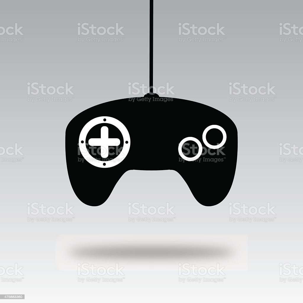 Video Game Controller Silhouette B Vektor Illustration 475883360