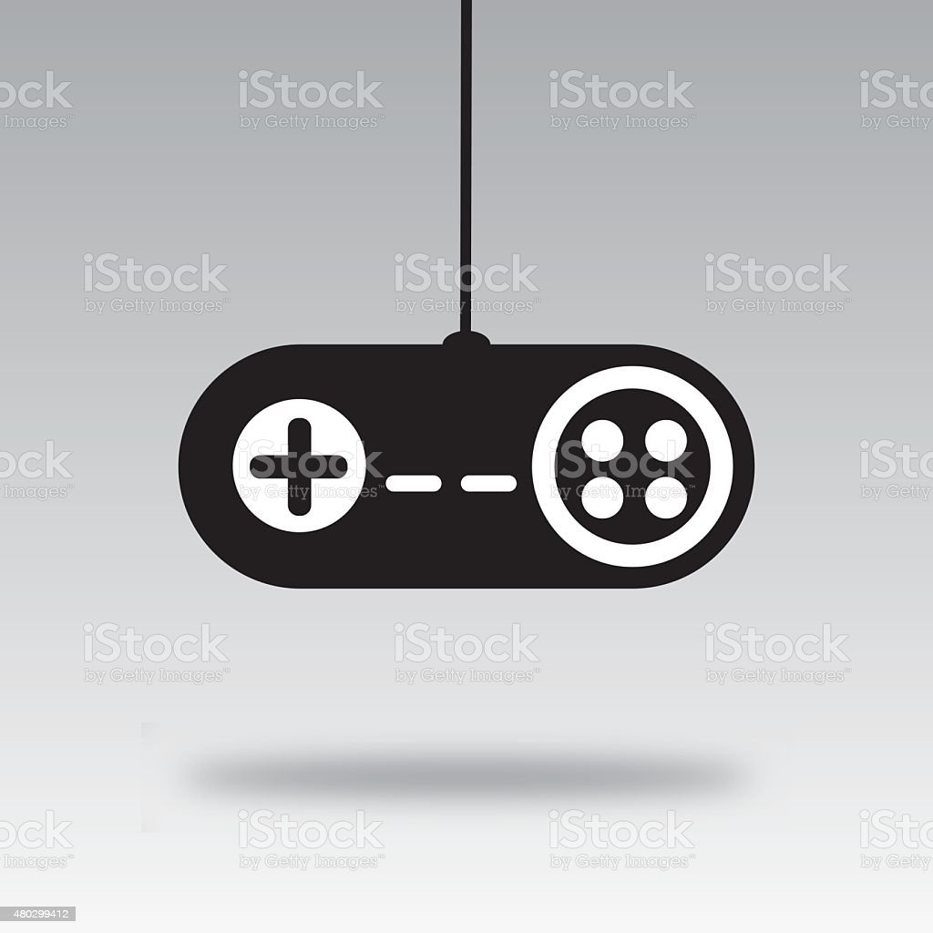 Video Game Controller Silhouette D Stock Vector Art More Images Of