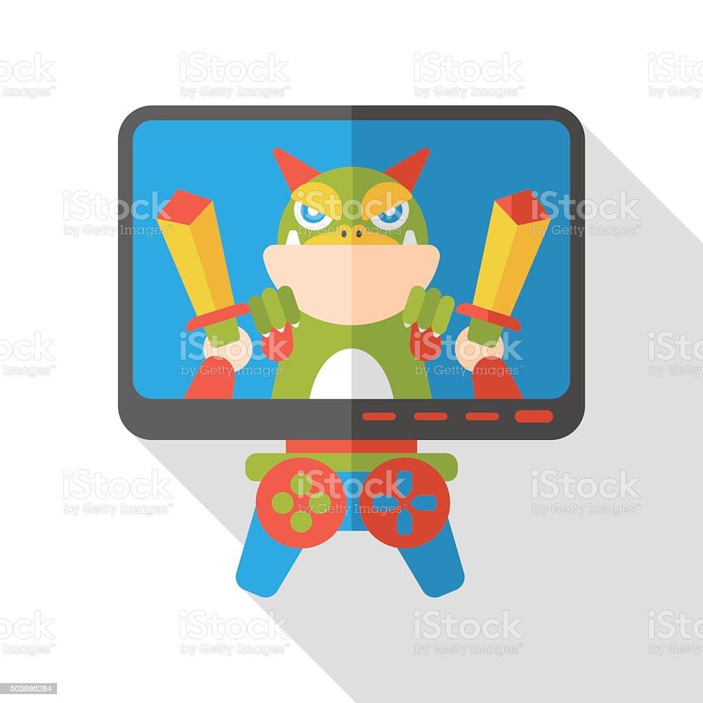 video game flat icon vector art illustration
