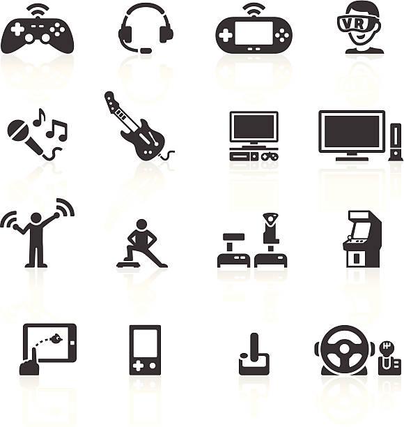 ビデオゲームハードウェアのアイコン - ゲーム ヘッドフォン点のイラスト素材/クリップアート素材/マンガ素材/アイコン素材