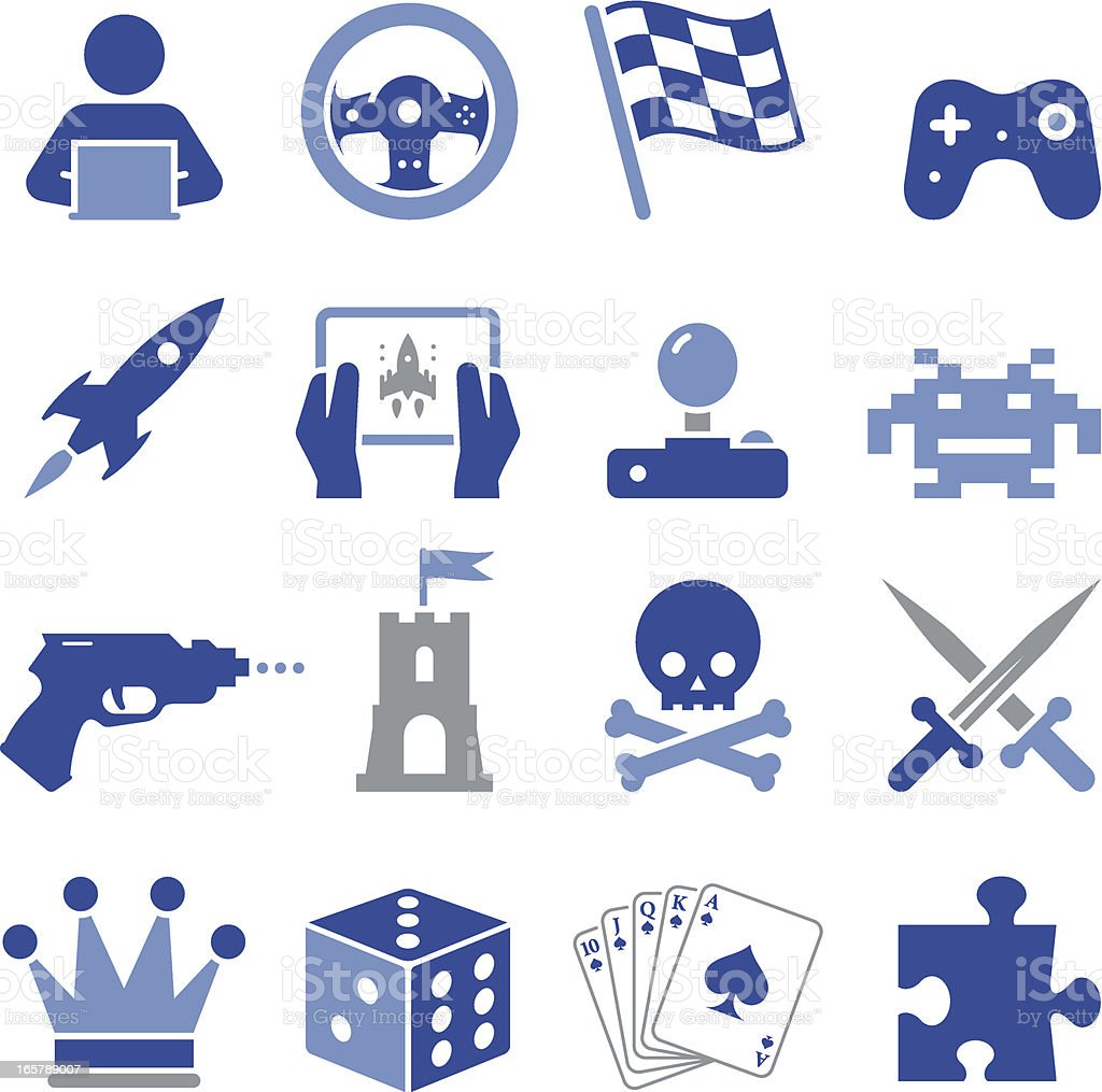 Video Game Icons - Pro Series royalty-free stock vector art