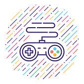 istock Video Game Line Icon Illustration 1060193228