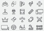 Video game Line Icons