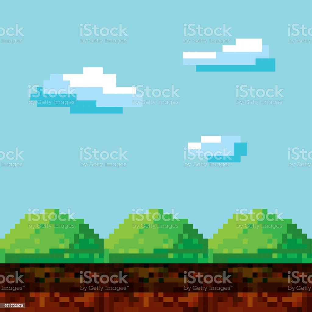 video game pixel design vector art illustration