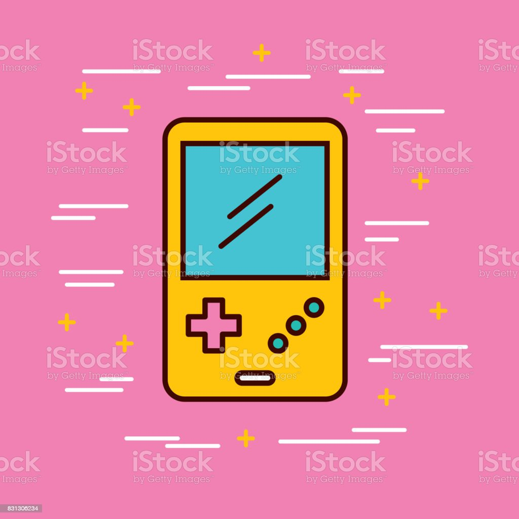 Video Games Classic Console Stock Illustration - Download