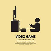 Video Games Player Graphic Symbol Vector Illustration