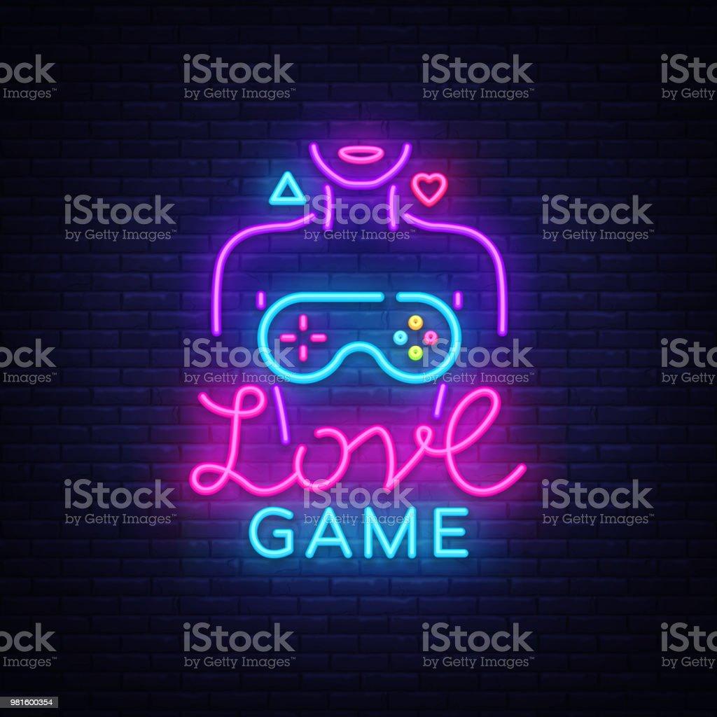 Ilustracion De Juegos De Video Vector Logo Conceptual Amor Juego De