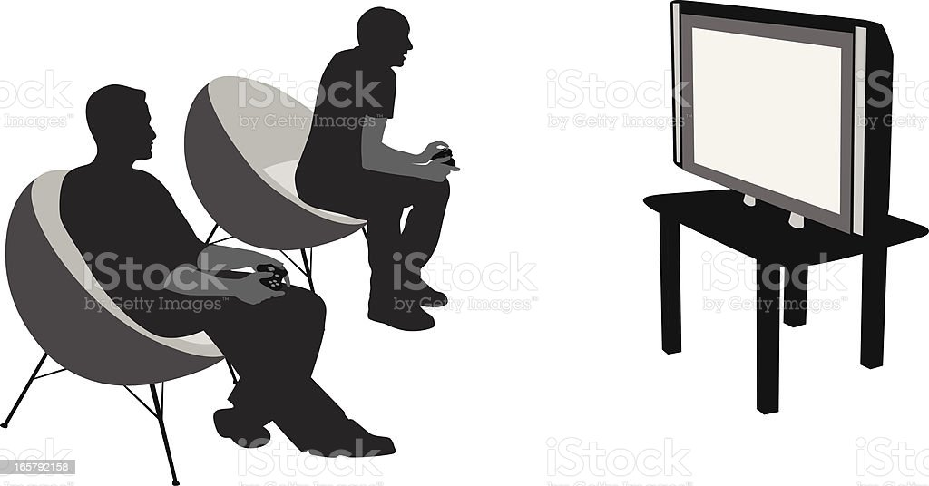 Video Games Vector Silhouette royalty-free stock vector art