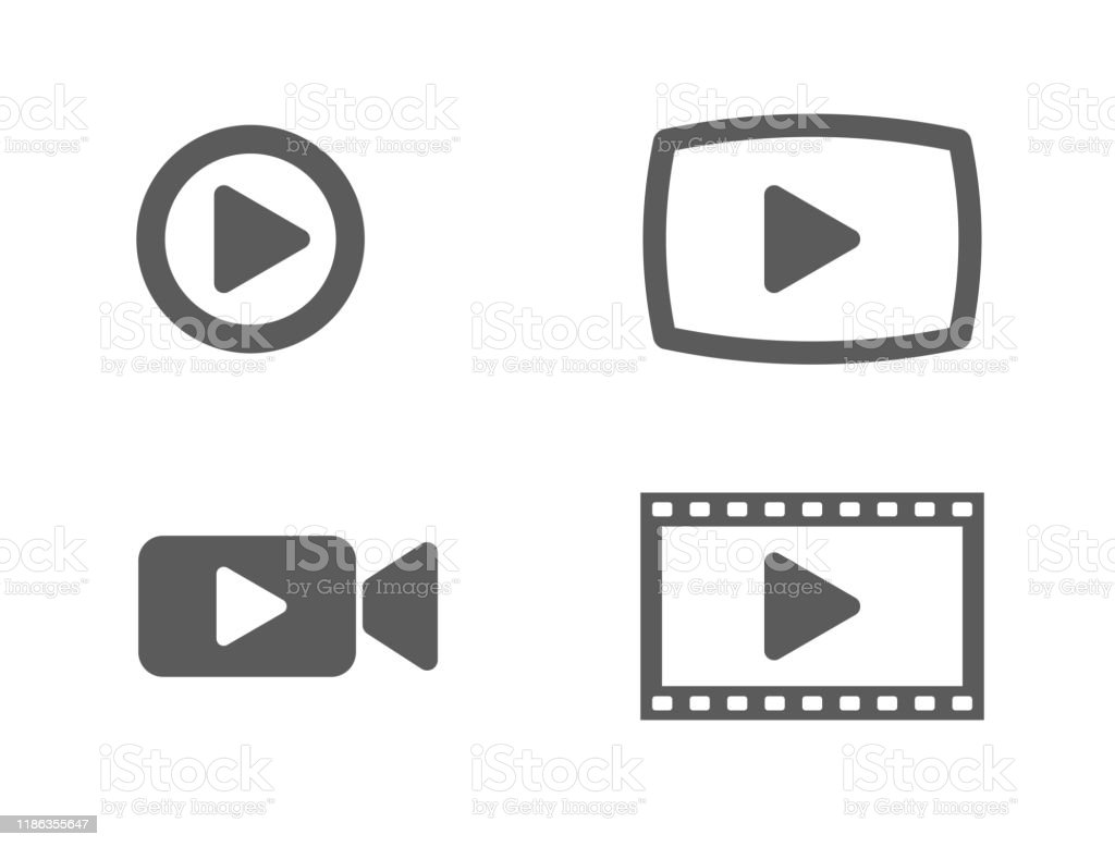 video icons and buttons - arte vettoriale royalty-free di Applicazione mobile