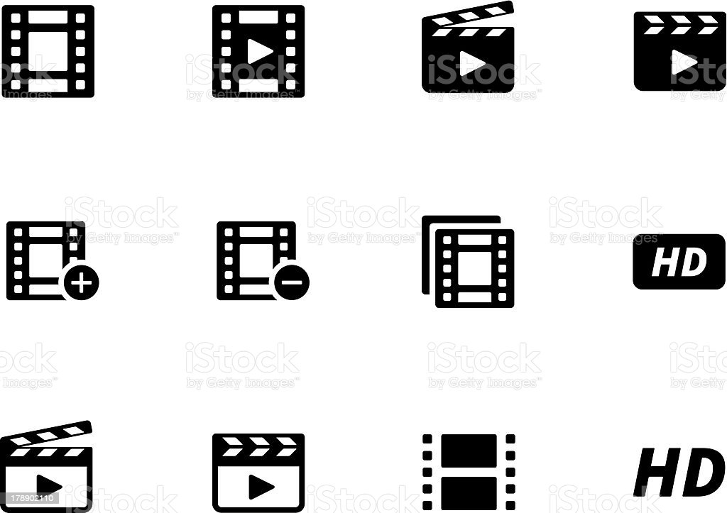 Video icons royalty-free stock vector art