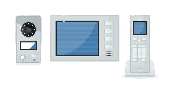 Video intercom item isolated on white background