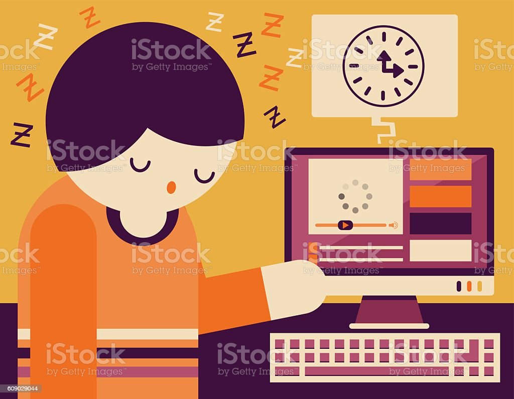 Video Loading vector art illustration