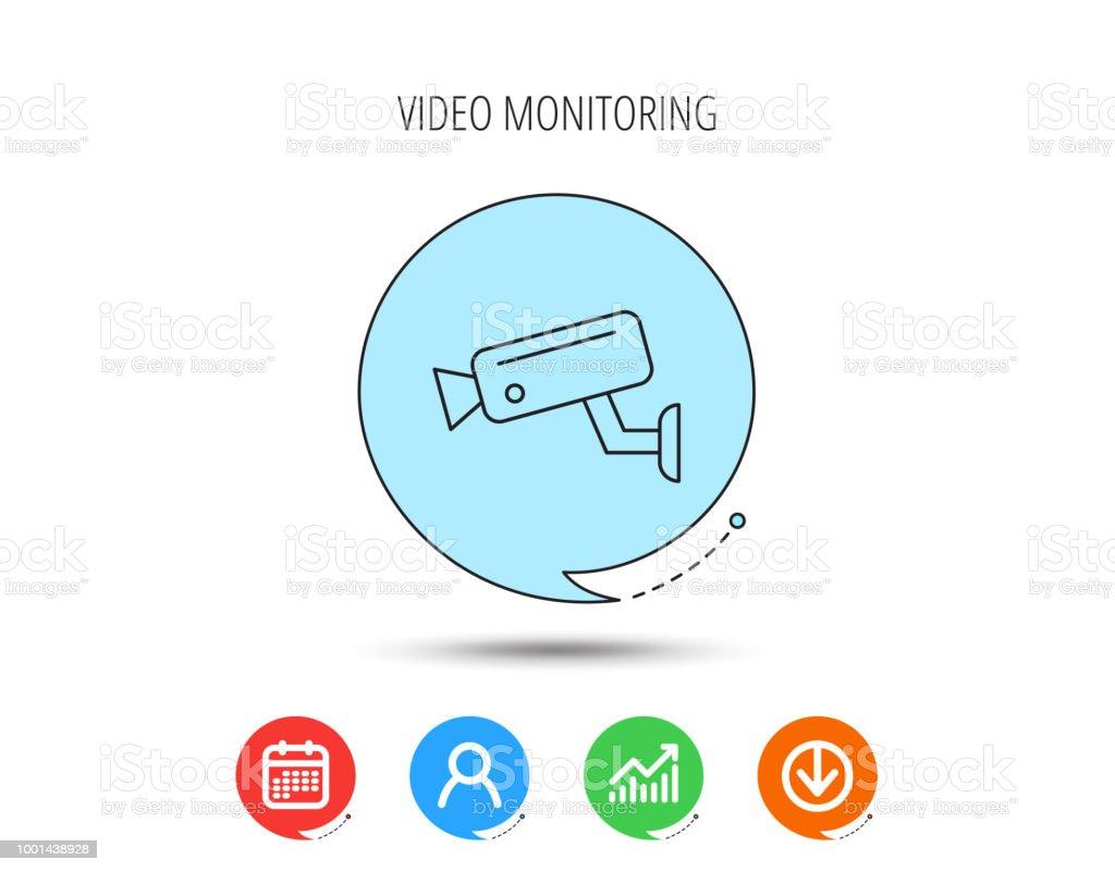 video monitoring icon  camera cctv sign  royalty-free video monitoring icon  camera cctv
