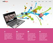 Video and movie streaming or production website design.