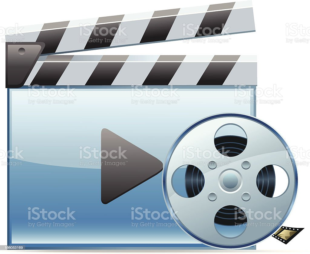 Video Player and Films spool royalty-free stock vector art