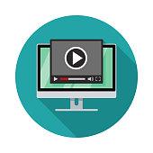 istock Video Player Desktop Icon 1328738089