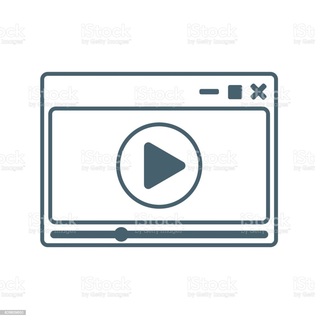 Video player flat icon