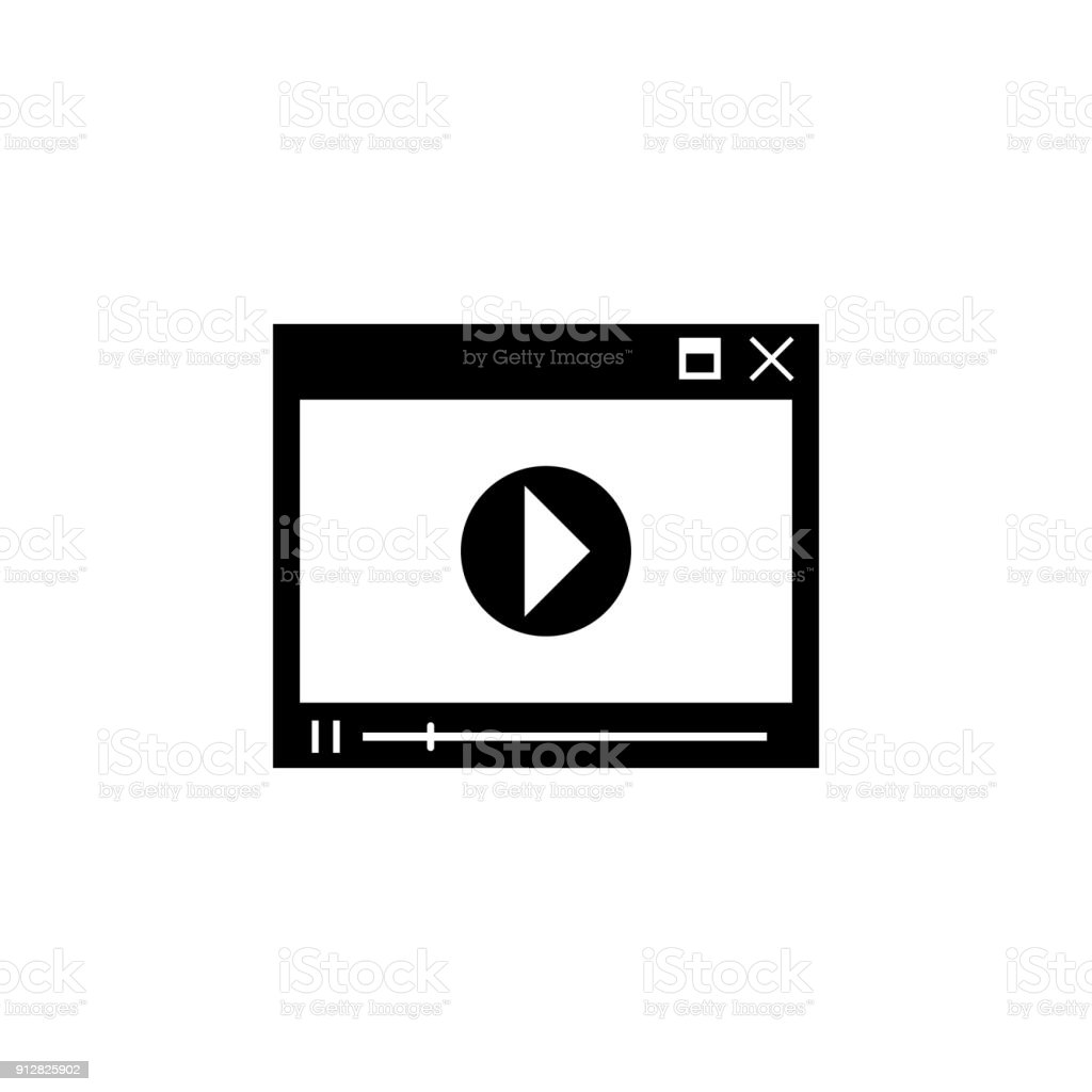 Video Player Icon Elements Of News And Media Streaming Icon Premium
