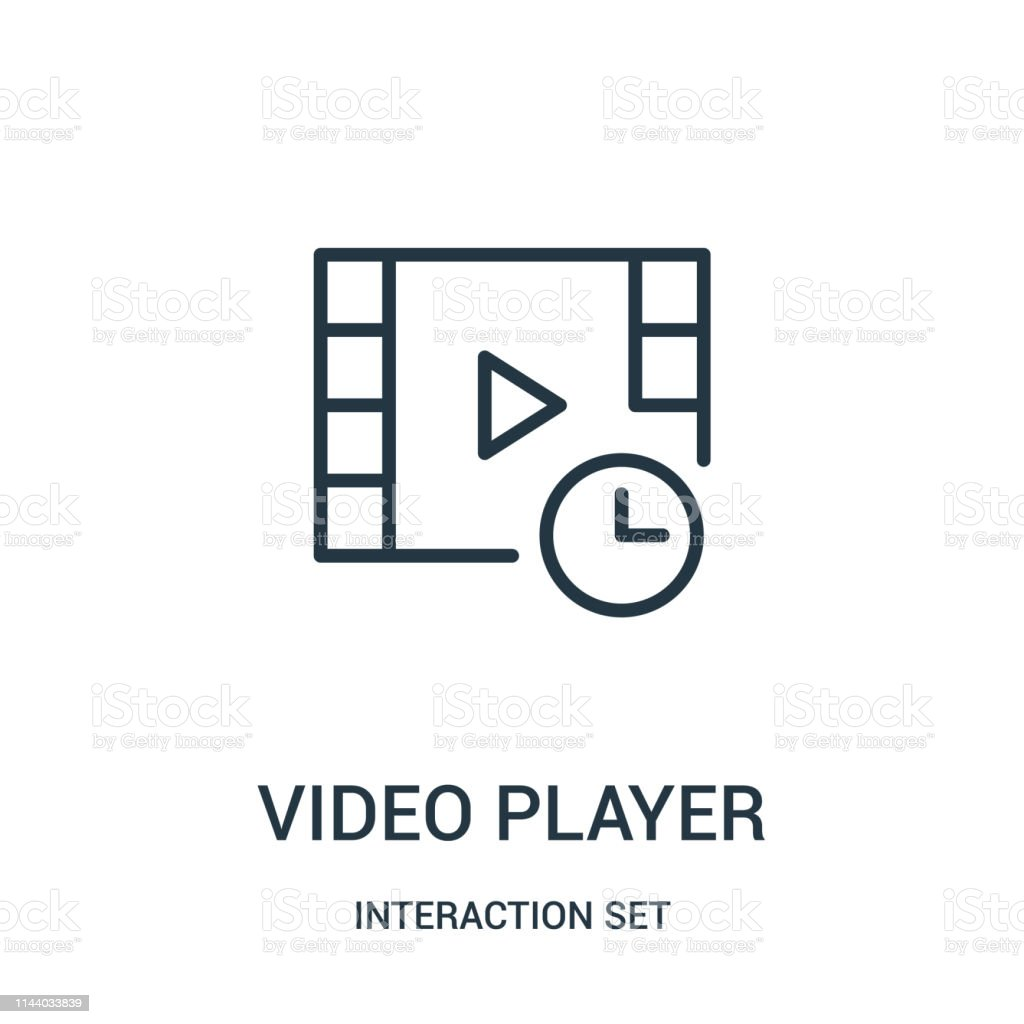 video player icon vector from interaction set collection. Thin line...