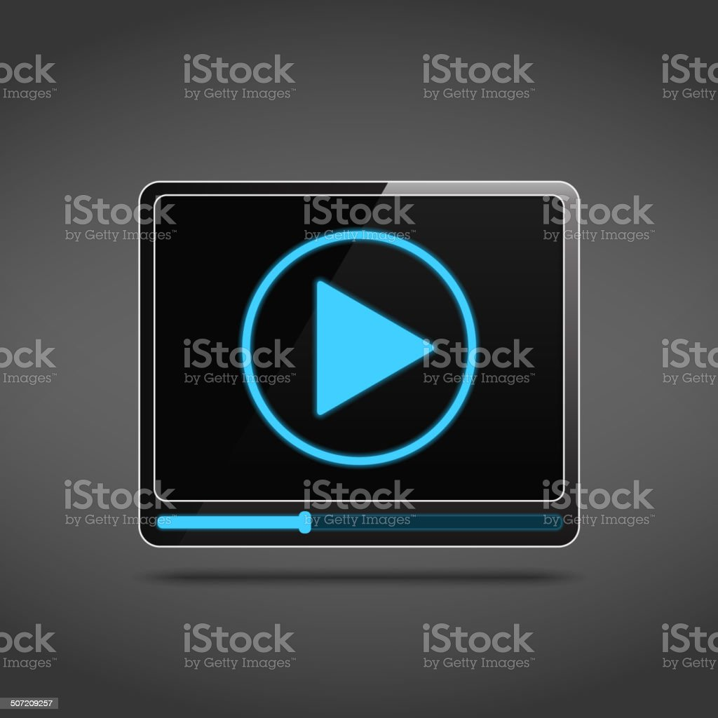 Video Player Icon royalty-free video player icon stock vector art & more images of black color